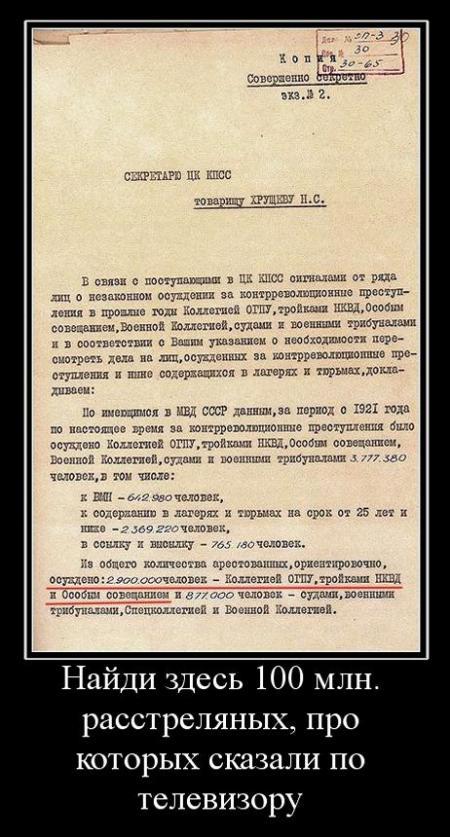 Abrechnung der _Repressalien_ Stalins