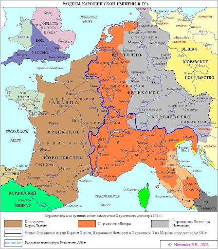 Das Karolinger Reich im 9. Jh.