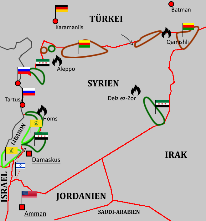 Syrien Karte Mit Städten.Militärisch Diplomatische Kurzübersicht über Die Lage In Syrien