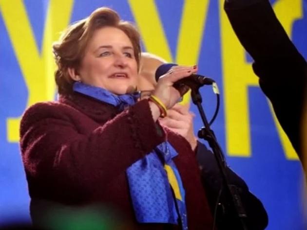 Litauens Parlamentspräsidentin: Loreta Graužinienė, Kiew 26. 11. 2013