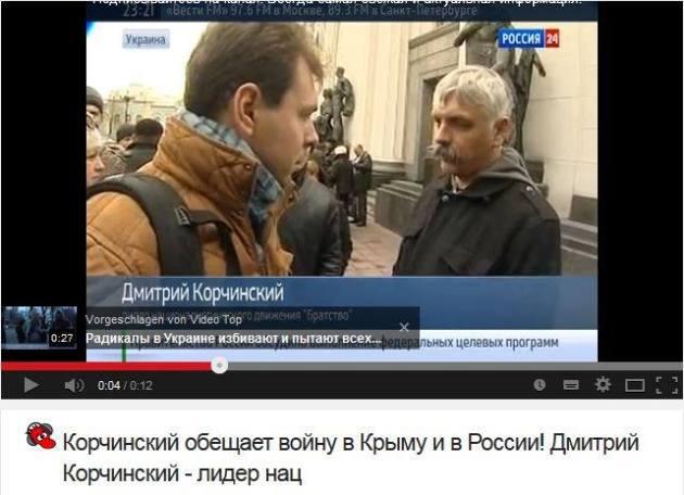 Krochinskiy verspricht den Krieg gegen die Krim und Russland. Dmitry Korchinskiy - der Führer der Naz