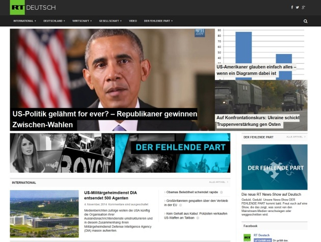 Screenshot RT Deutsch am 06.11.2014